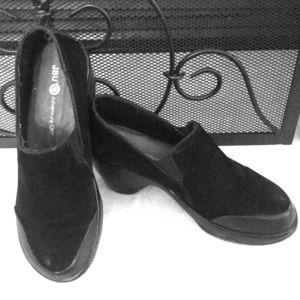 Woman's JBU -Adventure On -Black wedge loafers
